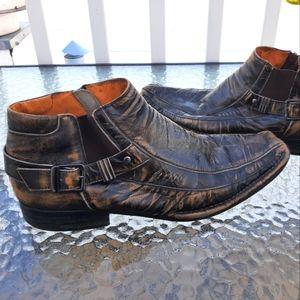 Steve Madden men Wenstern boots shoes